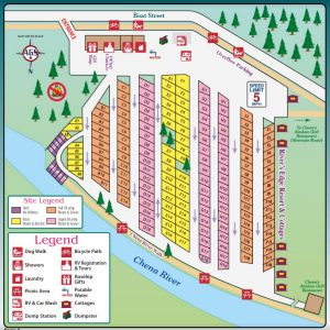 Fairbanks RV Park - River's Edge Resort RV Park Map