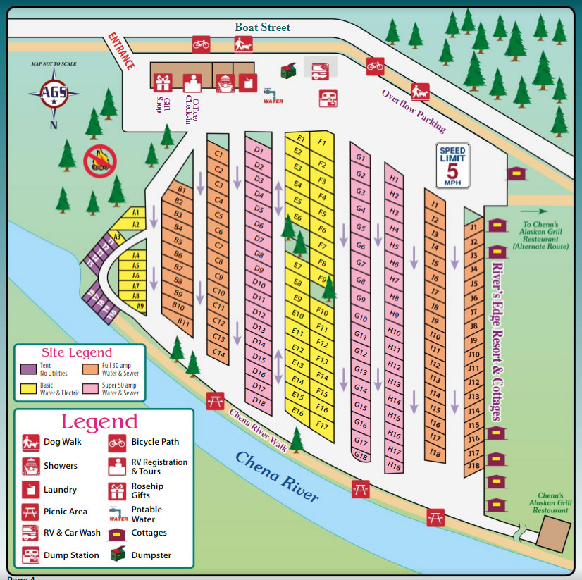 Rivers Edge RV Park Map